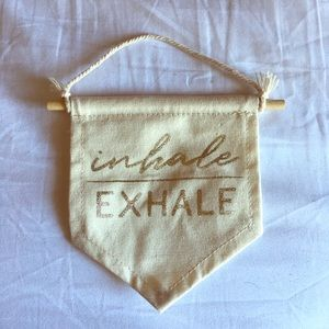 6for$25> Inhale Exhale Mini Room Flag